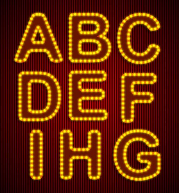 Vector retro alphabet set. Premium Vector