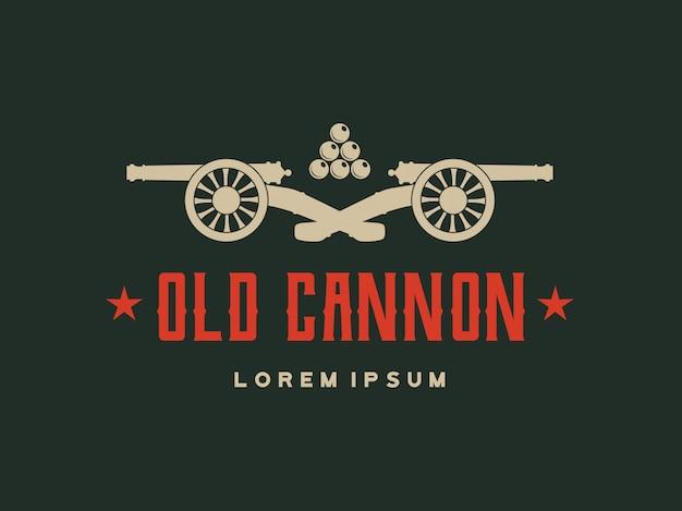 Vector retro cannon Premium Vector