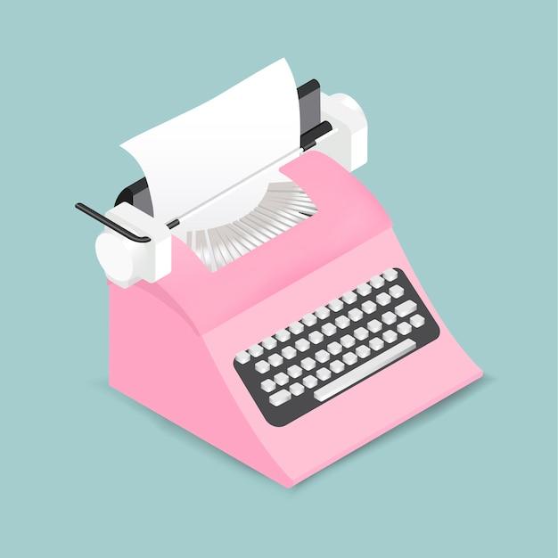 Vector of retro typewriter icon Free Vector