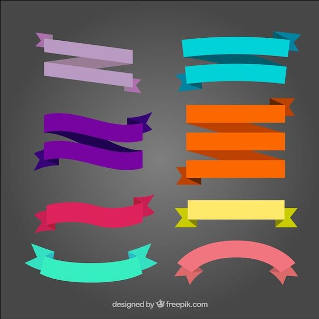 vector ribbons part Free Vector