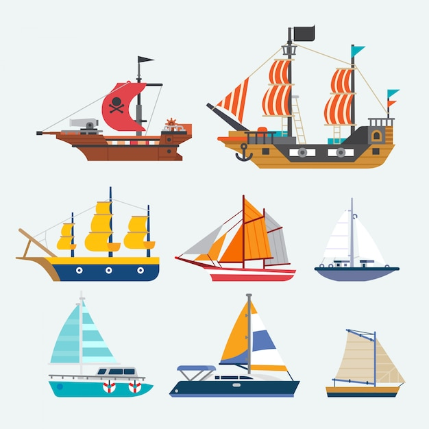 Vector of sailboat Premium Vector