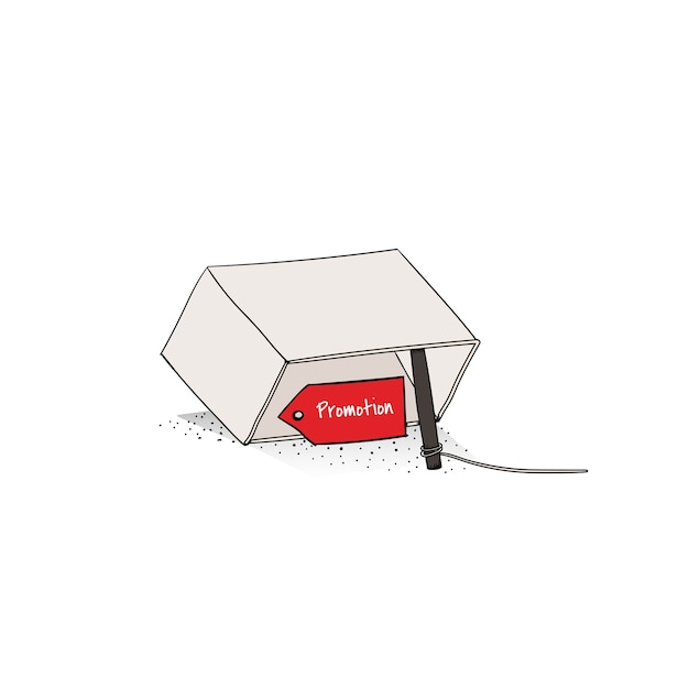 Vector of sale promotion trap Free Vector