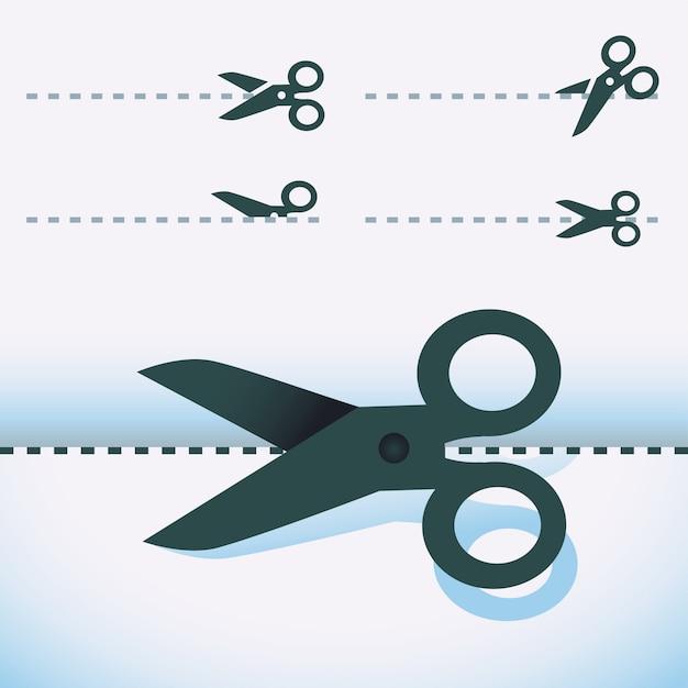 Векторные ножницы - набор элементов дизайна Premium векторы