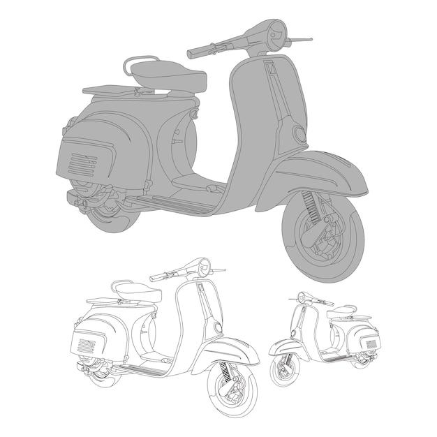 Vector scooter Premium Vector