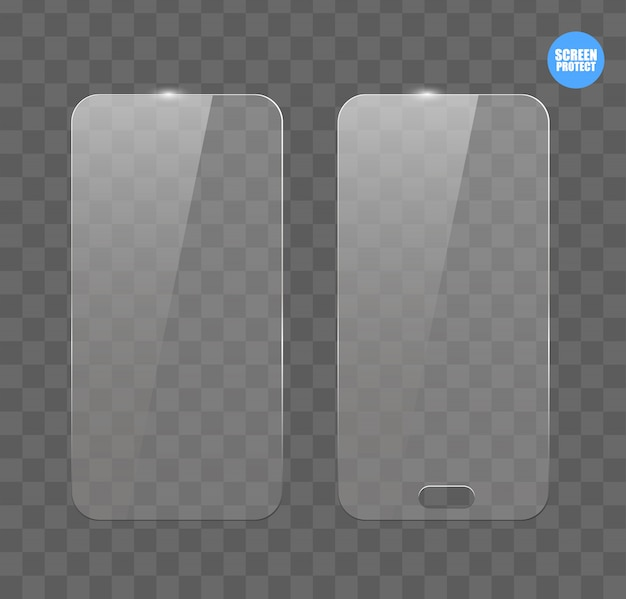Vector screen protector film or glass cover Premium Vector