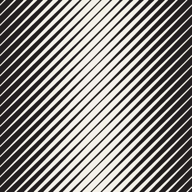 Vector seamless black and white halftone diagonal stripes pattern Premium Vector