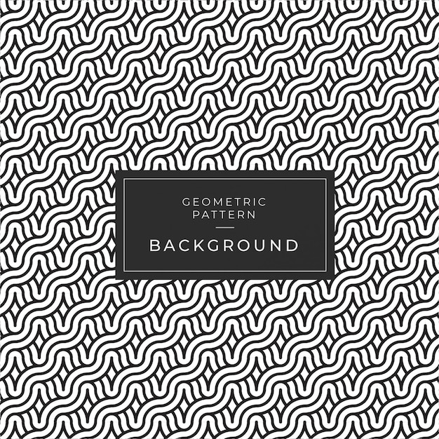 Vector seamless black & white rounded rope lines brade pattern Premium Vector