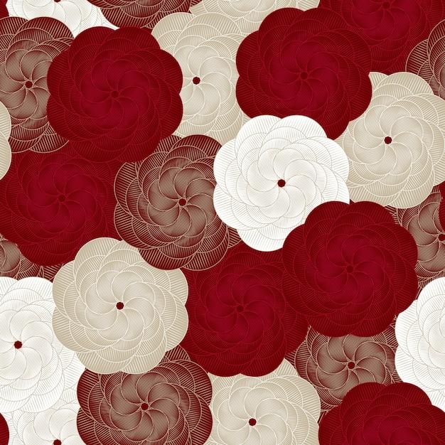 Vector seamless flower pattern Premium Vector