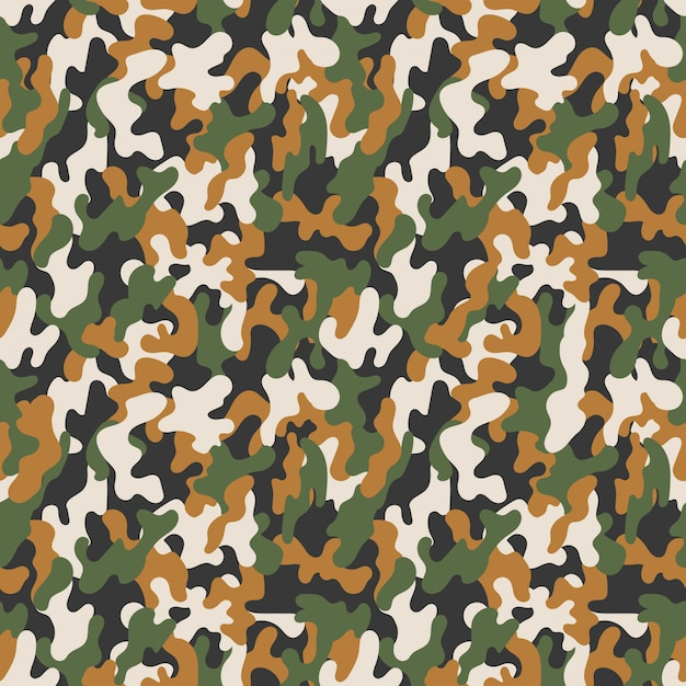 Vector seamless military camouflage pattern. seamless vector abstract background Premium Vector