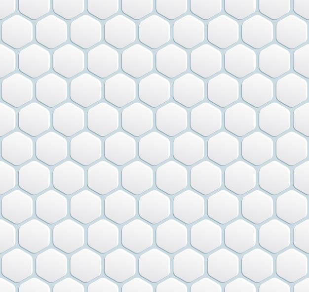 六角形のベクトルシームレスモダンな白い背景 無料ベクター