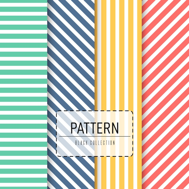 Vector seamless pattern pack Premium Vector