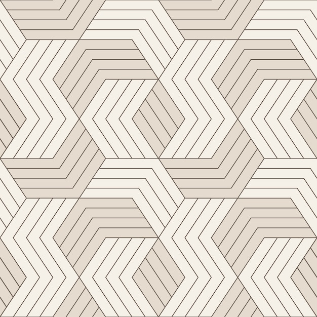 Vector seamless pattern. seamless pattern with symmetric geometric lines. repeating geometric tiles. Premium Vector