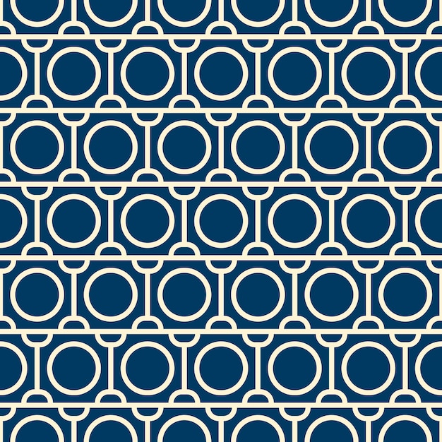 Vector seamless pattern with repeating objects. monochrome minimalist graphic design. Free Vector