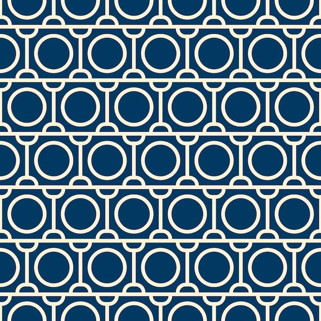 繰り返しオブジェクトとシームレスなパターンをベクトルします。モノクロのミニマリストグラフィックデザイン。 無料ベクター