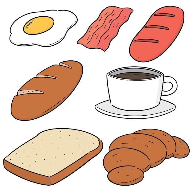 Vector set of breakfast Premium Vector