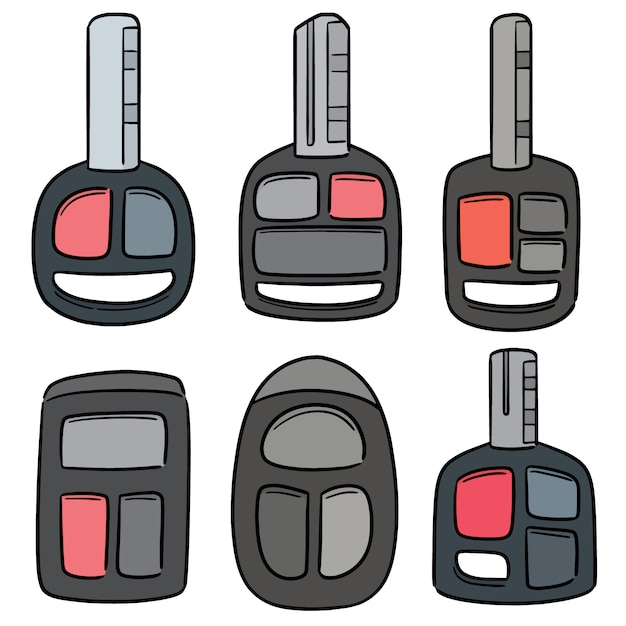 Vector Set Of Car Keys