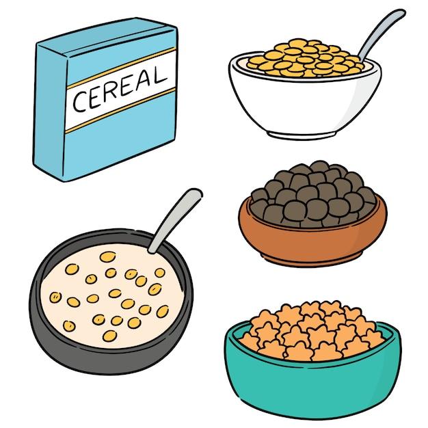 Vector set of cereal Premium Vector