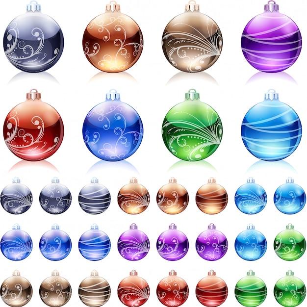 Vector set of chistmas bubbles. Premium Vector