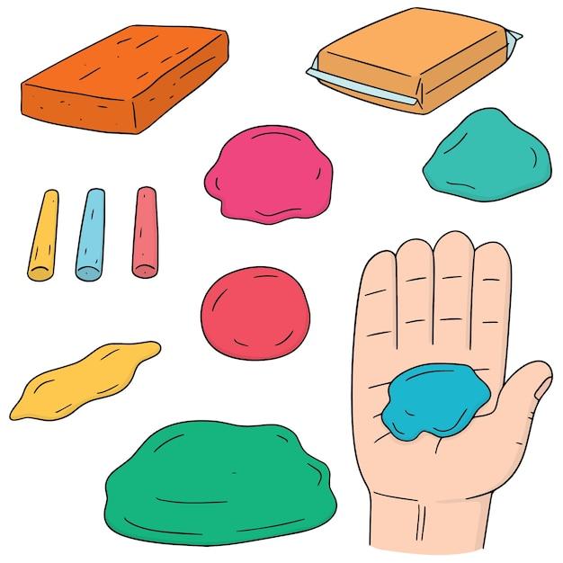 Vector set of clay for kid Premium Vector