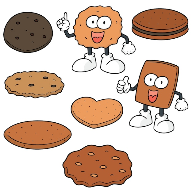 Vector set of cookies and biscuits Premium Vector