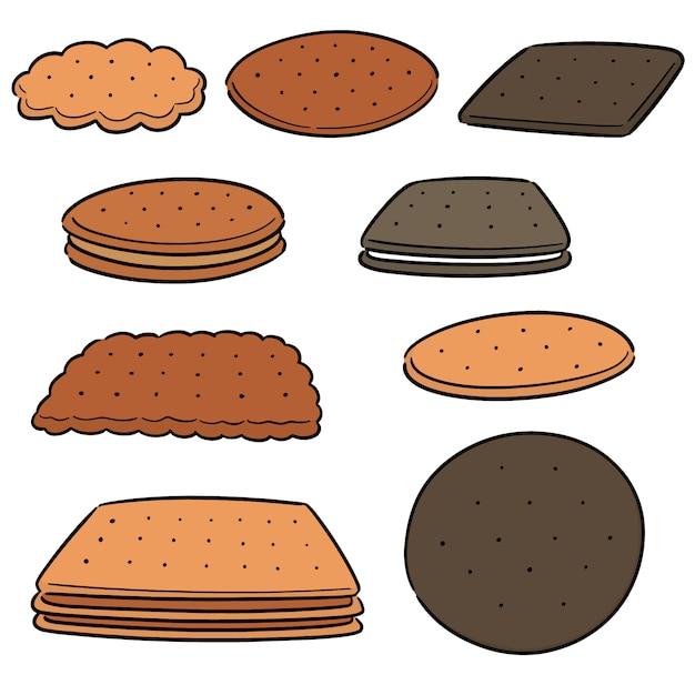 Vector set of cookies and biscuits Premium Vector