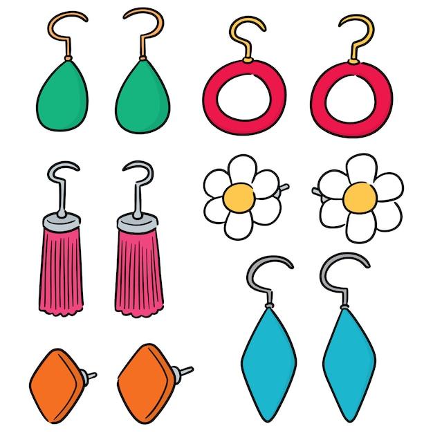Vector set of earrings Premium Vector