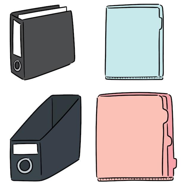 Vector set of folder Premium Vector