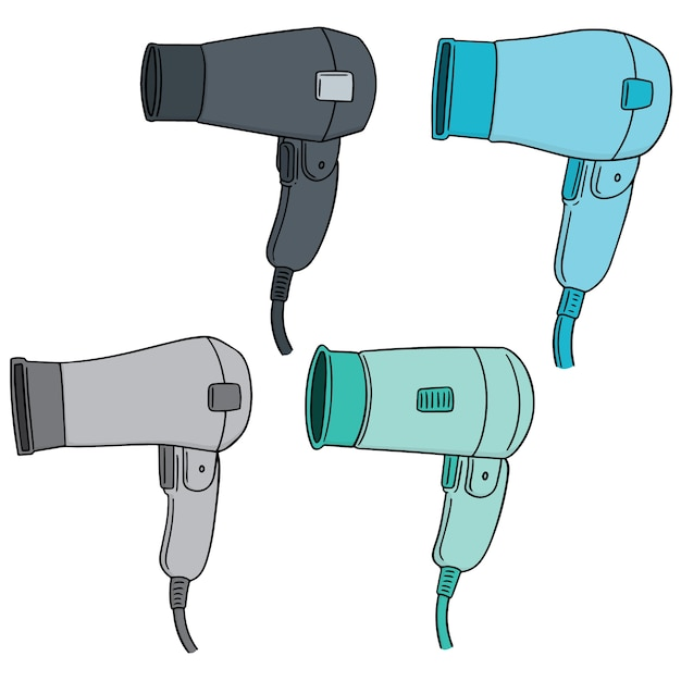 Vector set of hair dryer Premium Vector