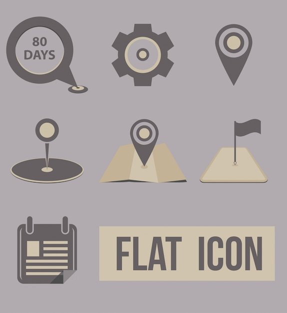 Vector set icons modes of transport. navigation Free Vector