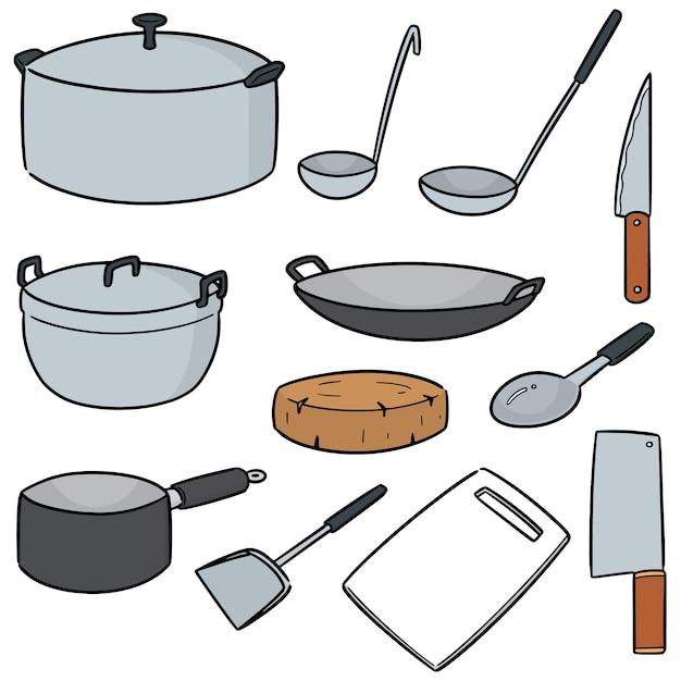 Vector set of kitchen tool Premium Vector