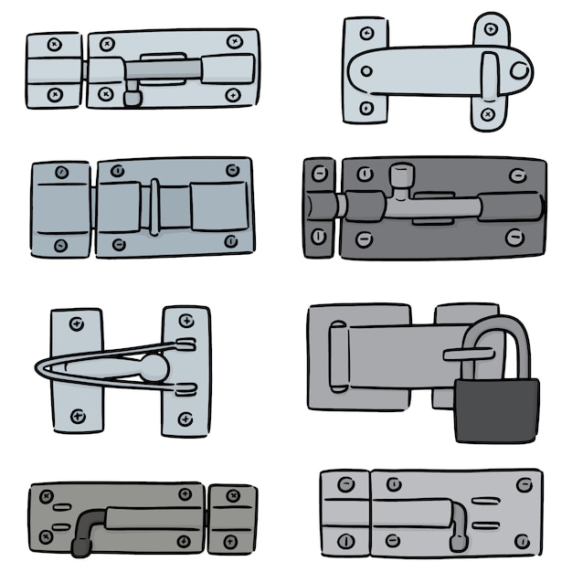 Vector set of latch Premium Vector