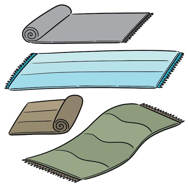 Vector set of mat Premium Vector
