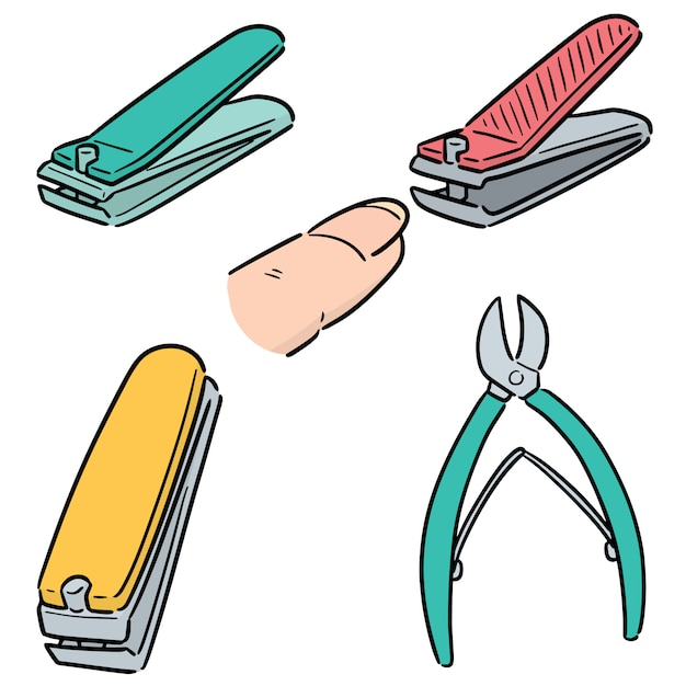 Vector set of nail clipper Premium Vector