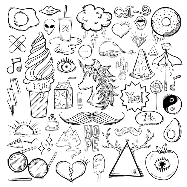 Vector set of feminine icons Free Vector
