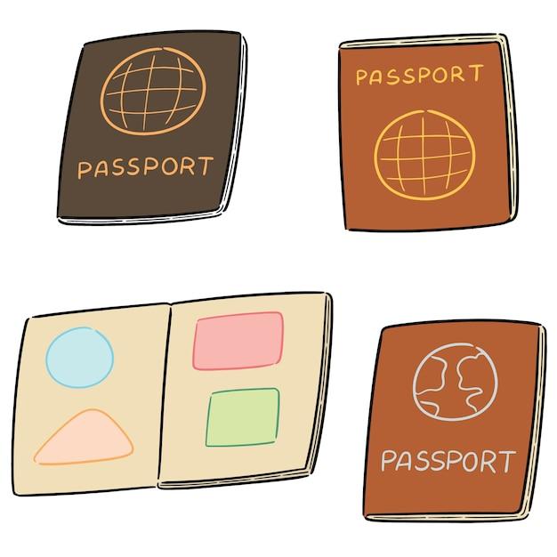 Vector set of passport Premium Vector