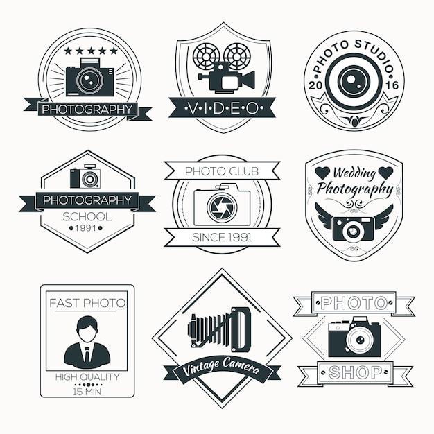 Vector set of photography badges Premium Vector
