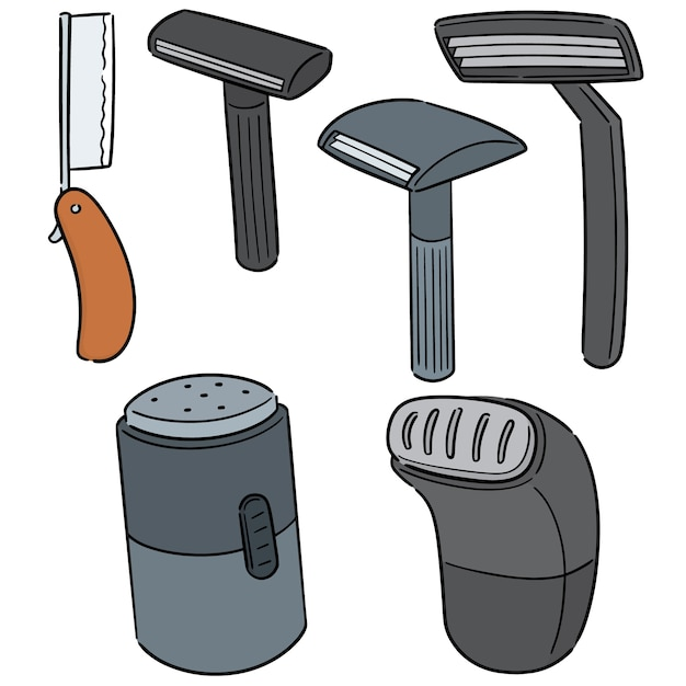 Vector set of razor Premium Vector