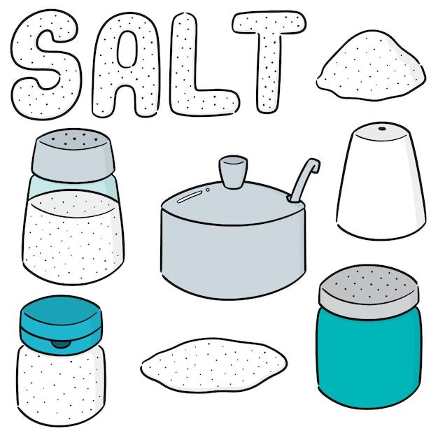 Vector set of salt Premium Vector