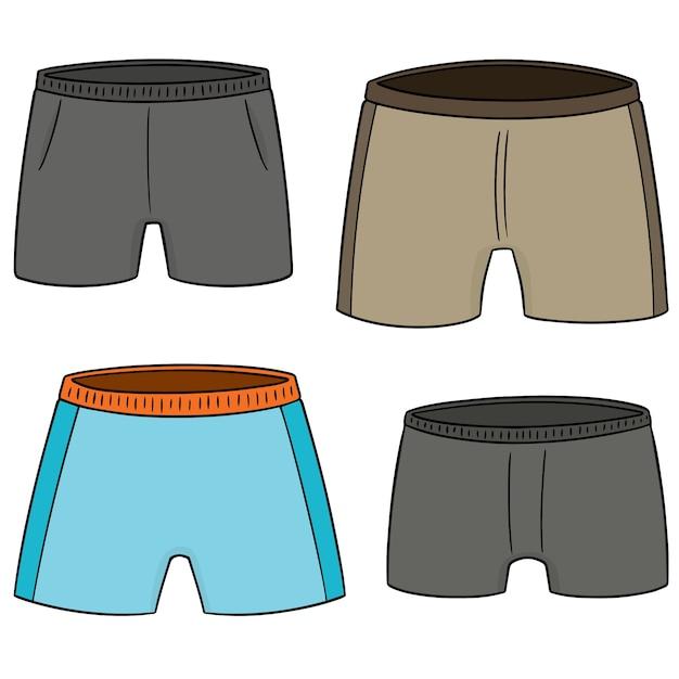 Vector set of shorts Premium Vector