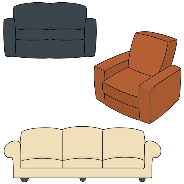 Vector set of sofa Premium Vector
