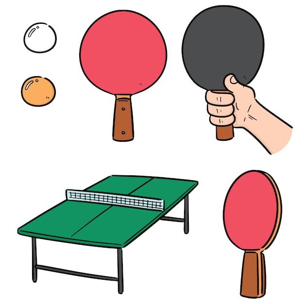 Vector set of table tennis Premium Vector