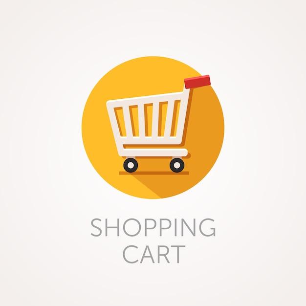 Vector shopping cart icon Premium Vector