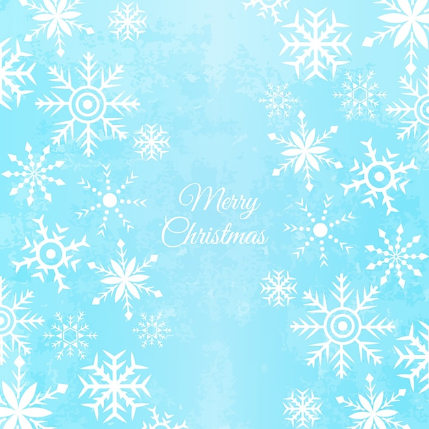 Vector Snowflakes Background Free Vector