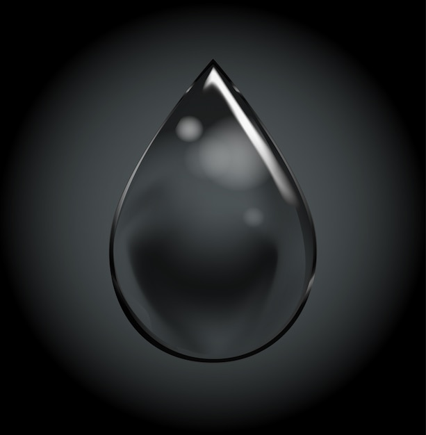 Vector soap water bubbles on black color Premium Vector
