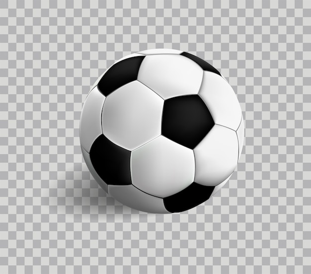 Vector Soccer Icon On Transparency Vector Premium Download