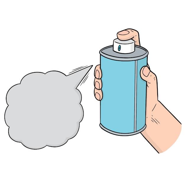 Vector of spray can Premium Vector