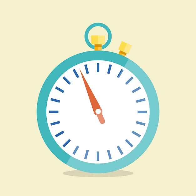 Vector stopwatch. icon in flat style. Premium Vector