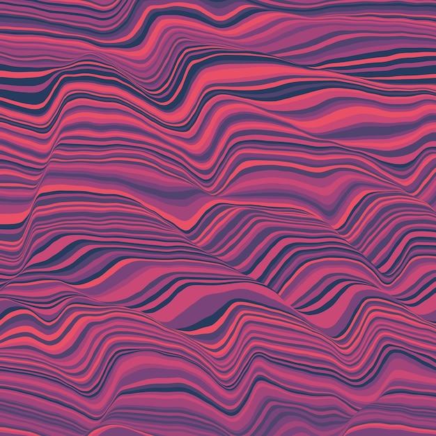 Вектор полосатый. абстрактные цветные волны. Бесплатные векторы