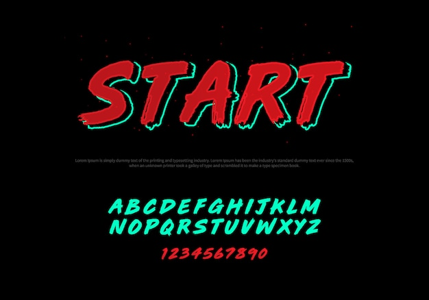 Vector of stylized modern font and alphabet. racing typography italic font Premium Vector