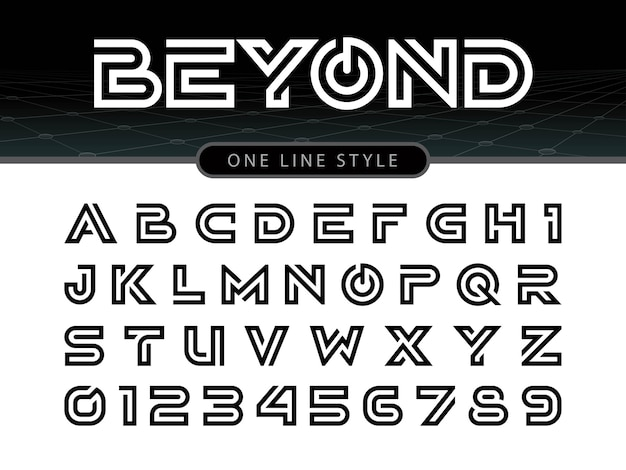 Vector of stylized rounded font and alphabet Premium Vector